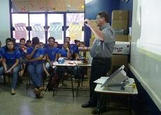 Palestra na Escola Estadual José Alves Ribeiro em Rochedo - MS