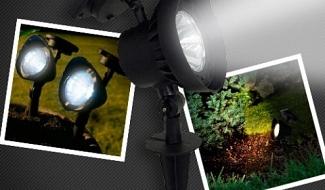 Luminária solar Spot SuperLED - Disponíveis nas cores branca, verde ou âmbar
