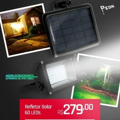 Refletor Solar 60 LEDs